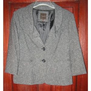 The Limited Collection Blazer Jacet Ruffle Tweedy
